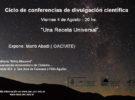 6ta conferencia científica para todo público