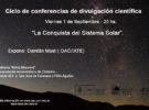 7ma Conferencia Científica para todo público