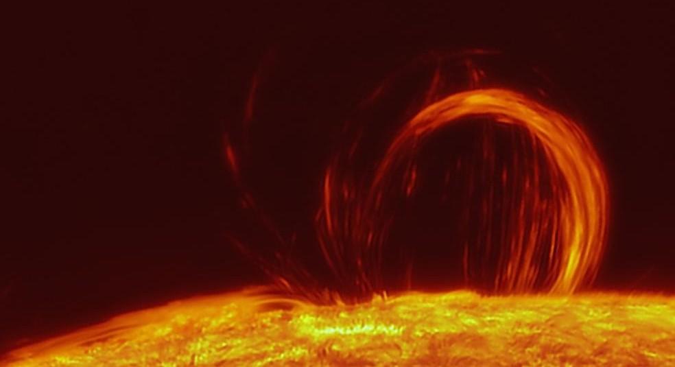 sunspot-plasma-loop